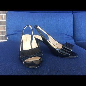 Women's Kate Spade Navy Sling Back Shoes, Size 6